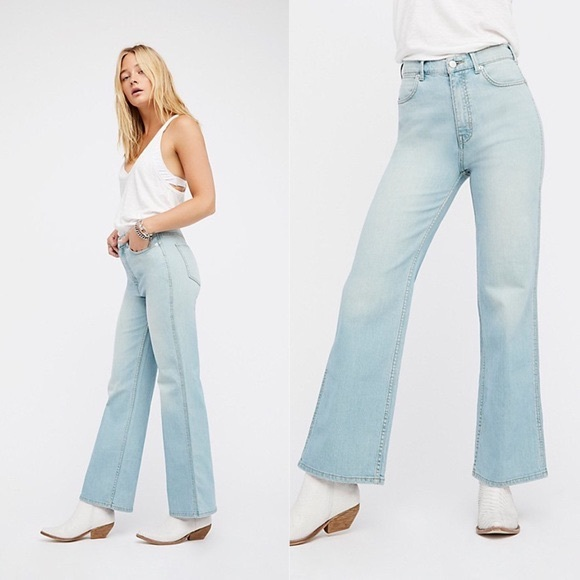 biggest selection elegant appearance 2019 hot sale Free People • High Rise Straight Flare Jeans NWT